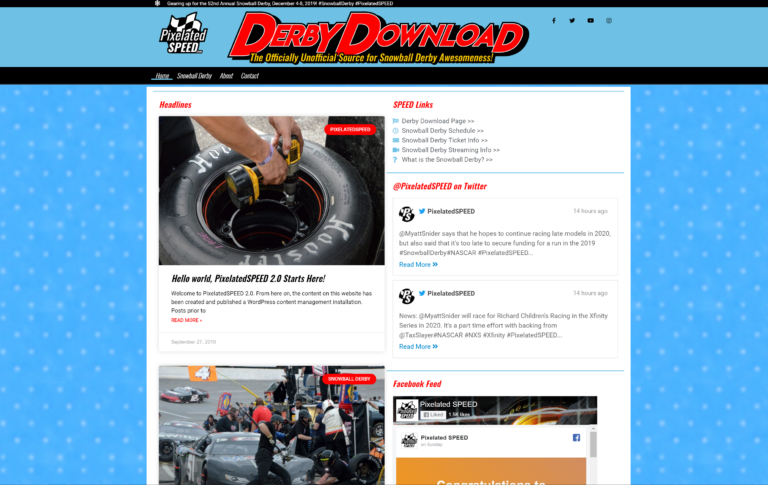 PixelatedSPEED 2.0 Launches with 2019 Derby Download Theme