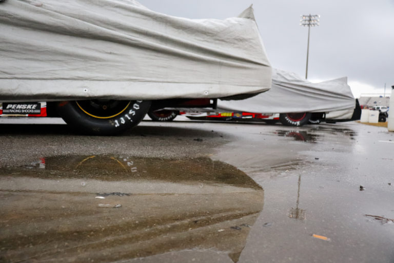 What Happens to the Derby Cars During a Rain Postponement?