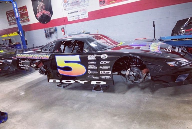 Bromante Returns to Rattler with Campi Carrying the Colors of Fallen Racer