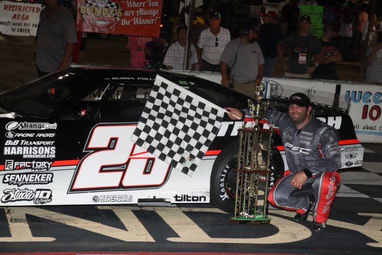 PixelatedRESULTS: Pollard Uses the High Line to Become a Five Time Winner of the Baby Rattler 125 at South Alabama Speedway